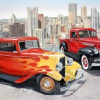 1932-Ford-Deuce-Coupe-1946-Chevrolet-Pick-up-Art-Expo